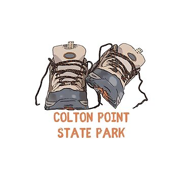 Colton Point State Park Hiking Boots by awkwarddesignco