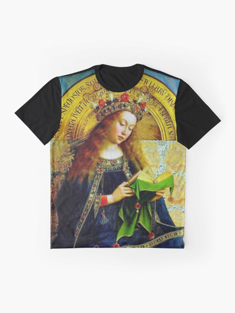 Alternate view of Our Lady Queen of Heaven Virgin Mary Crowning Virgen Maria 101 Graphic T-Shirt