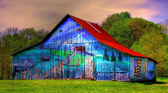 Barn gets a brush up by David Owens
