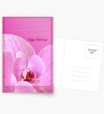 Pink Orchid  - birthday card Postcards