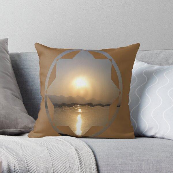 rippled dawn Throw Pillow