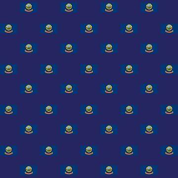 Flag of Idaho, pattern, blue background by Alma-Studio