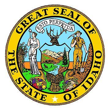 Seal of Idaho, white background by Alma-Studio