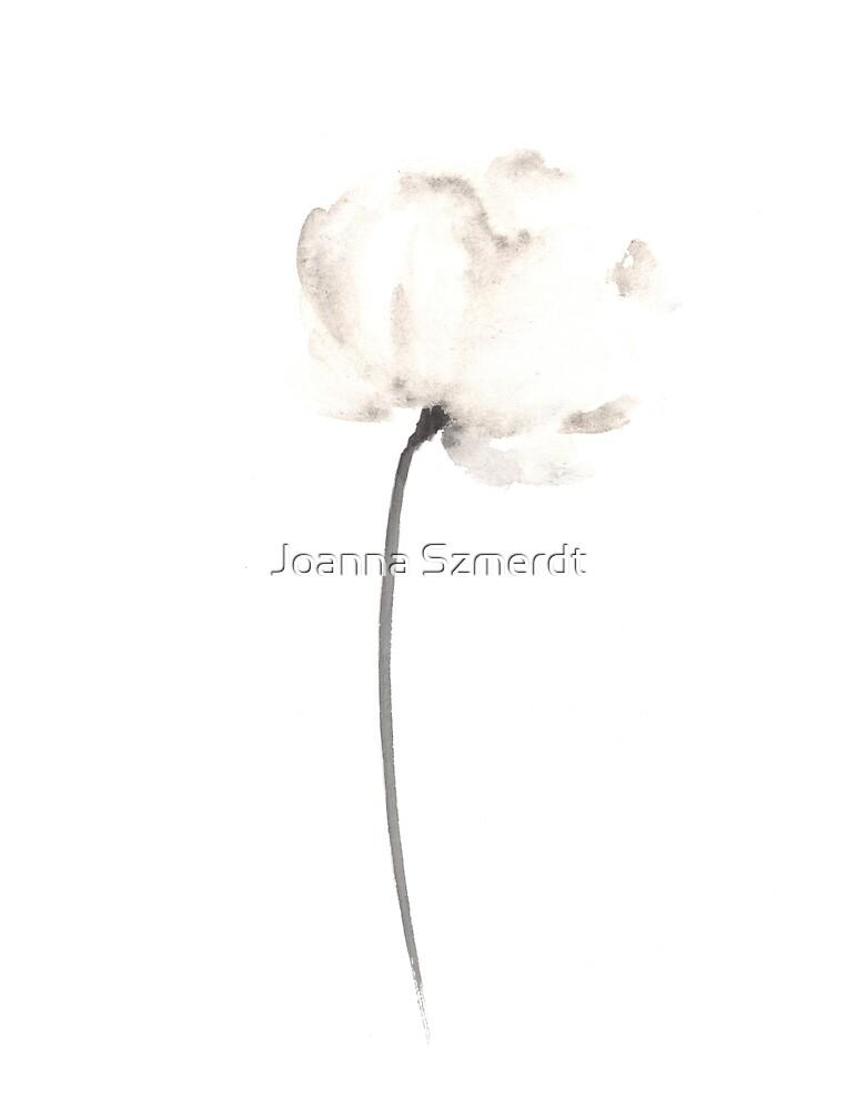 Abstract flower poster by Joanna Szmerdt