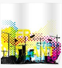 Urban Dystopian Future Poster