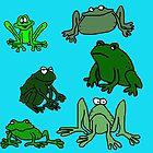 Funny Frogs Cartoon  by jaggerstudios