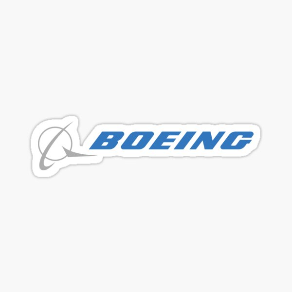 blue boeing logo  Sticker