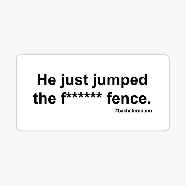 colton underwood fence jump Sticker