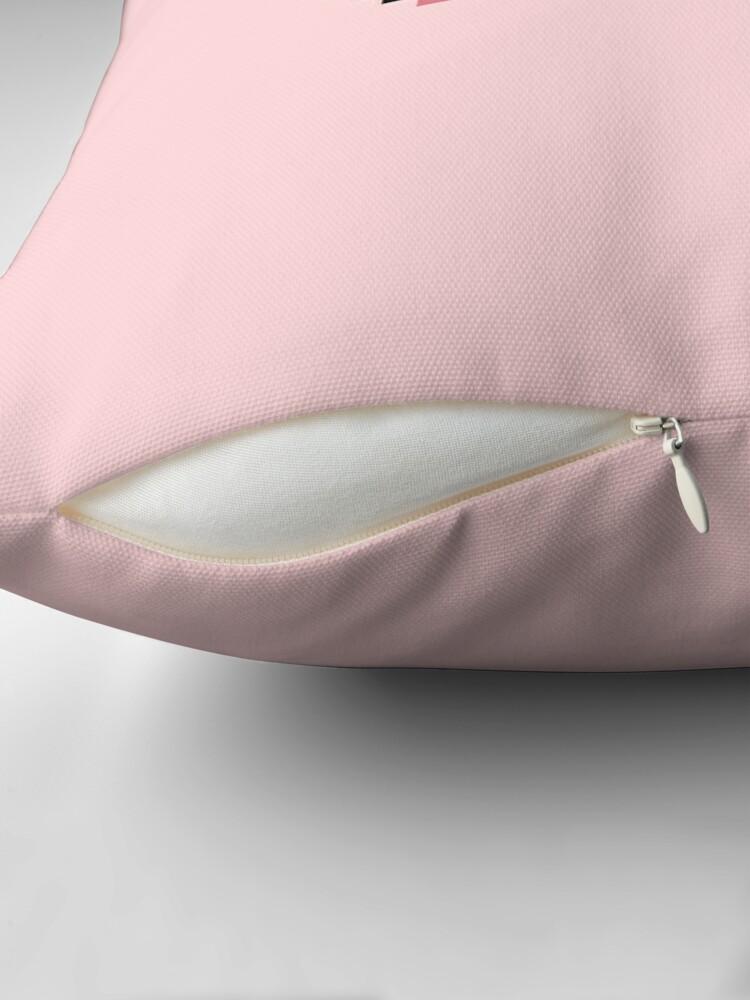 Alternate view of CTRL + C - Pixel Speech Bubble - (Pink) Throw Pillow