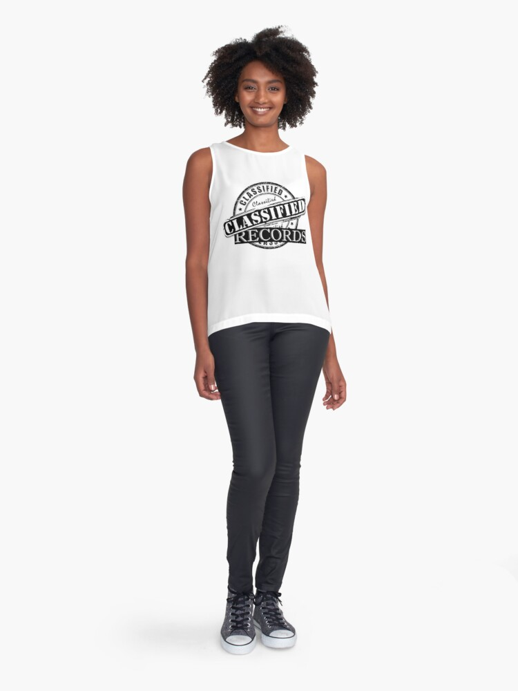 Alternate view of Classified Records Stamp Logo Sleeveless Top