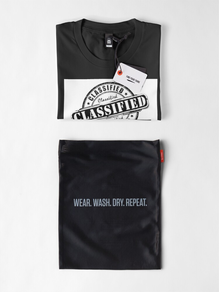Alternate view of Classified Records Stamp Logo Premium T-Shirt