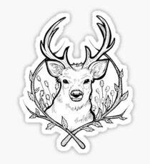 Deer (Black) Sticker