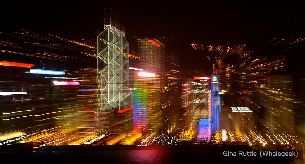 Hong Kong Abstracted by Gina Ruttle  (Whalegeek)