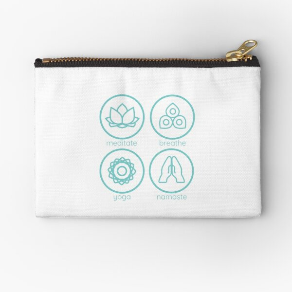 Yoga inspired icons - combination Zipper Pouch