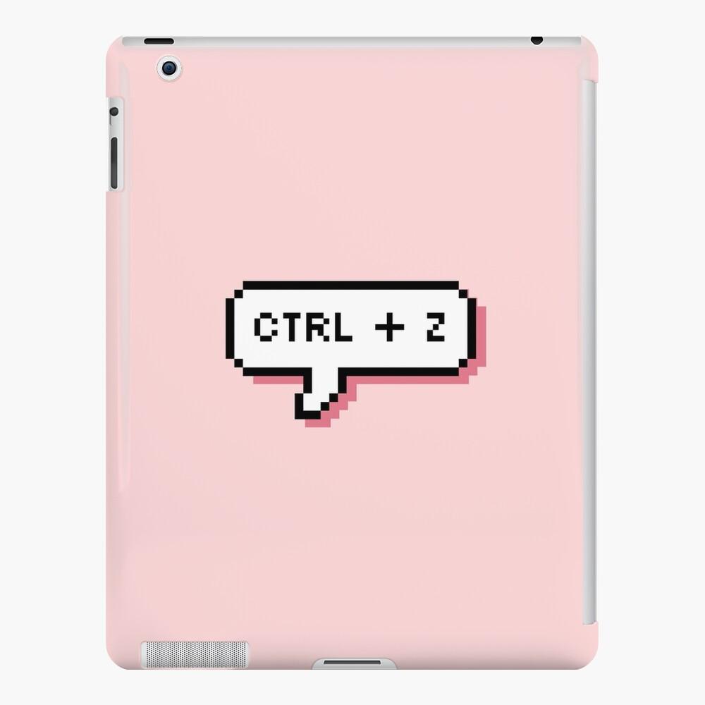 CTRL + Z - Pixel Speech Bubble - (Pink) iPad Case & Skin