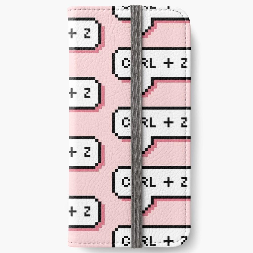 CTRL + Z - Pixel Speech Bubble - (Pink) iPhone Wallet