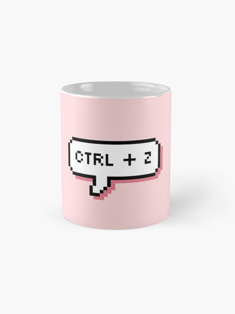 Alternate view of CTRL + Z - Pixel Speech Bubble - (Pink) Mug