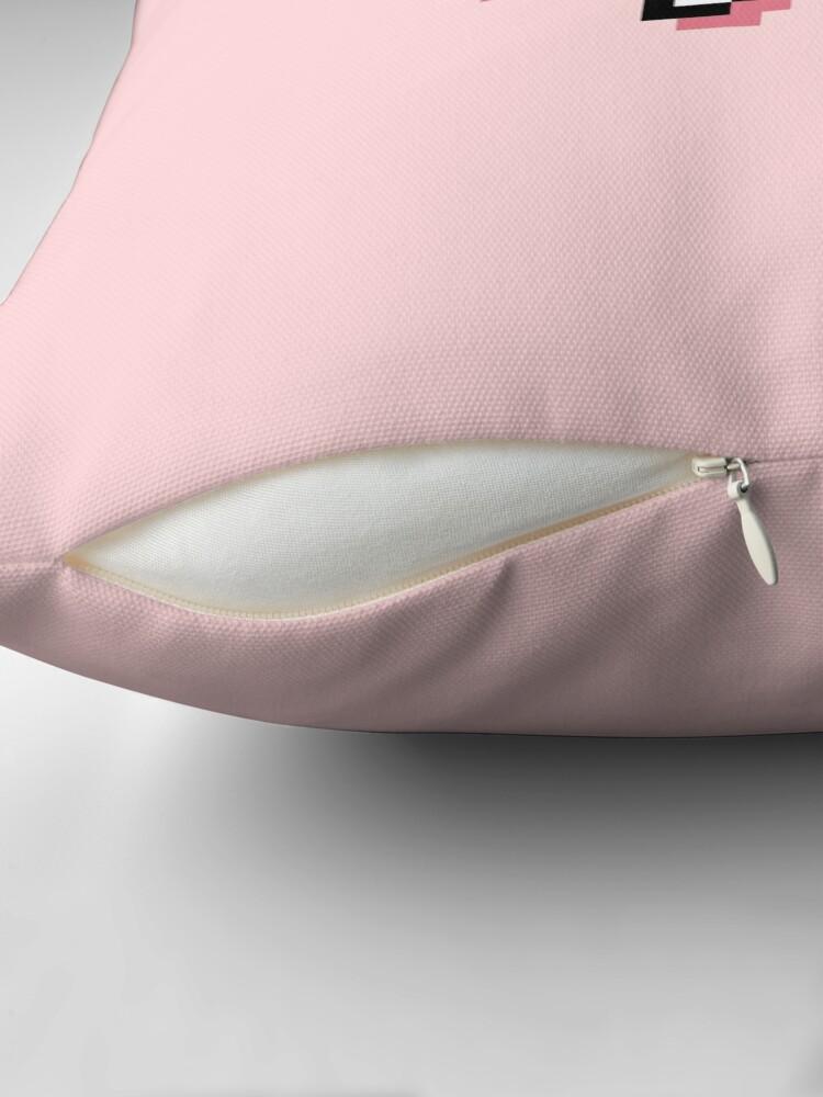 Alternate view of CTRL + Z - Pixel Speech Bubble - (Pink) Throw Pillow