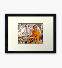 In The Amulet Market Framed Print