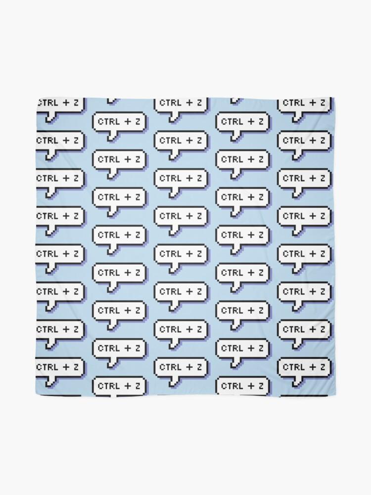 Alternate view of CTRL + Z - Pixel Speech Bubble - (Blue) Scarf