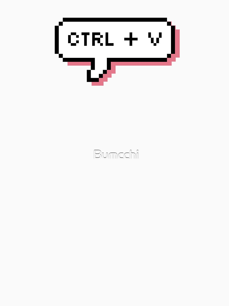 CTRL + V - Pixel Speech Bubble - (Pink) by Bumcchi