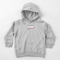 CTRL + V - Pixel Speech Bubble - (Pink) Toddler Pullover Hoodie