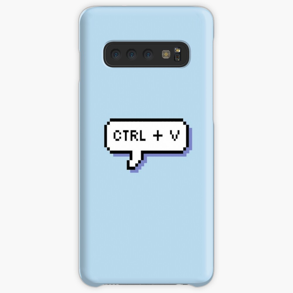 CTRL + V - Pixel Speech Bubble - (Blue) Case & Skin for Samsung Galaxy