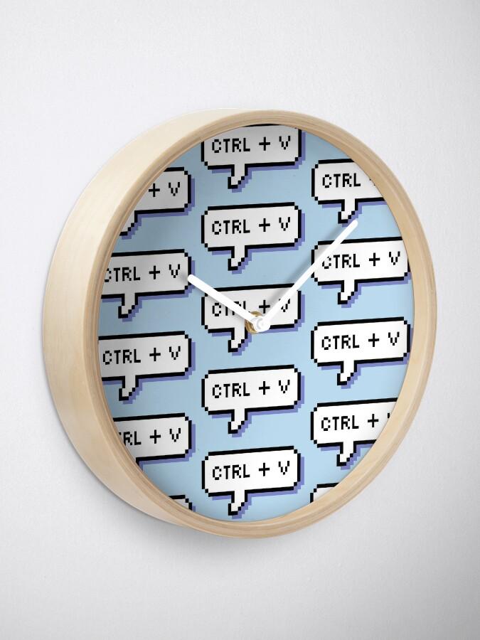 Alternate view of CTRL + V - Pixel Speech Bubble - (Blue) Clock