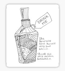 Zentangle Drink Me Sticker