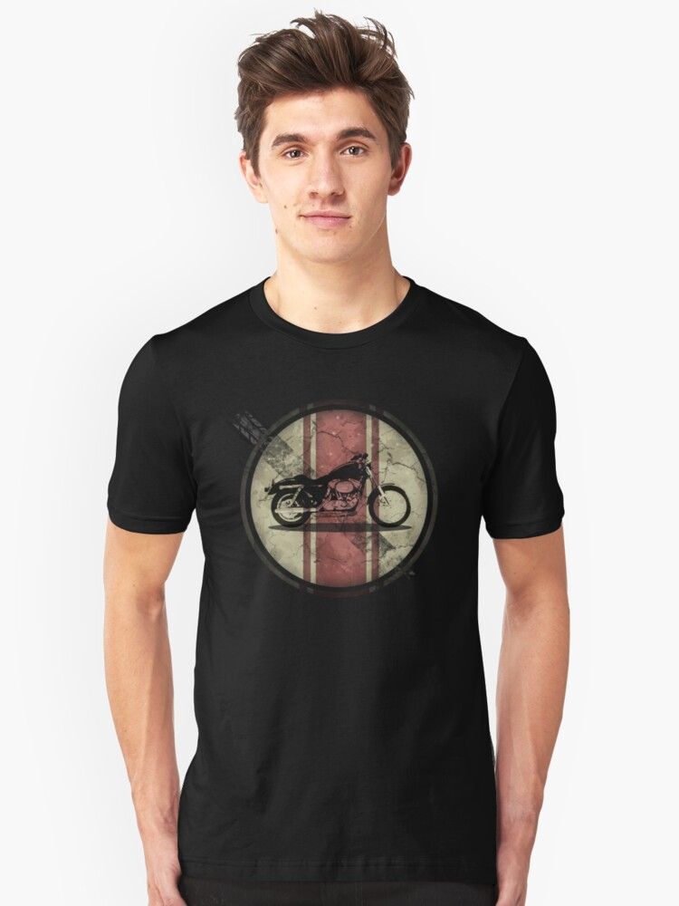Motorcycle Button Unisex T-Shirt Front
