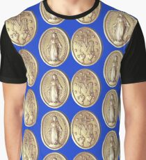 Our Virgin Mary Miraculous Medal Crowning Virgen Maria Prayer 101 Graphic T-Shirt
