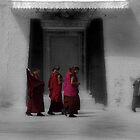 tibetan monks by DareImagesArt
