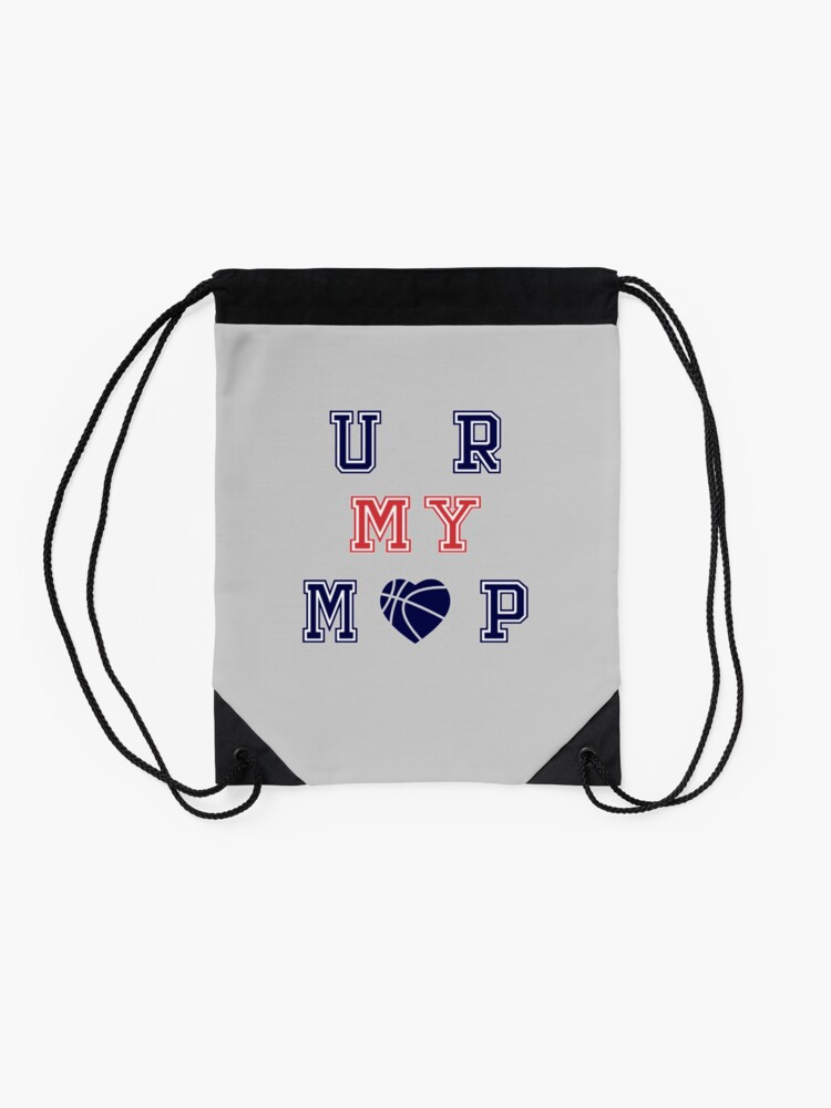 Alternate view of Basketball, MVP, Adult and Kids Custom T-Shirt Drawstring Bag