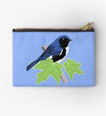 Black-Throated Blue Warbler Zipper Pouch