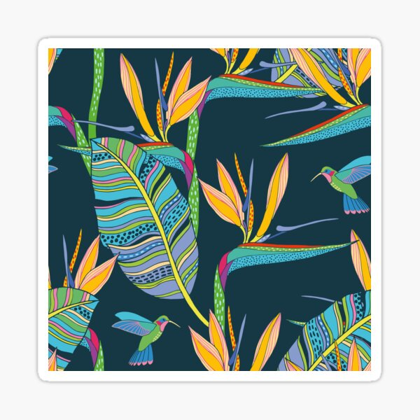 Bohemian Birds of Paradise Sticker