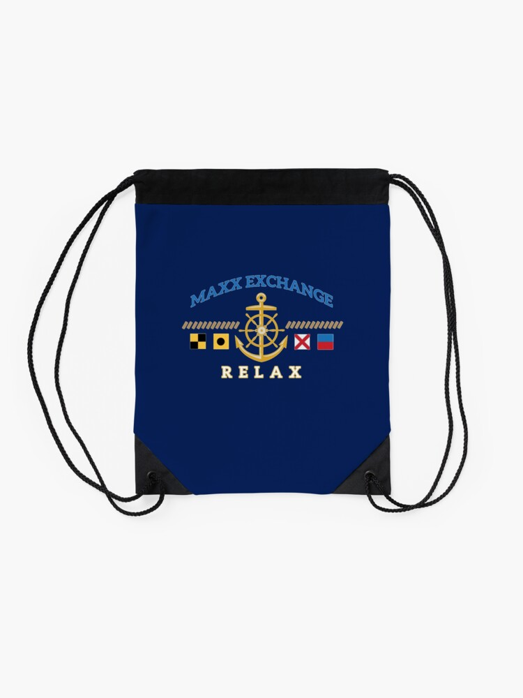 Alternate view of Nautical Flags, Helm, Anchor, Relax.  Drawstring Bag