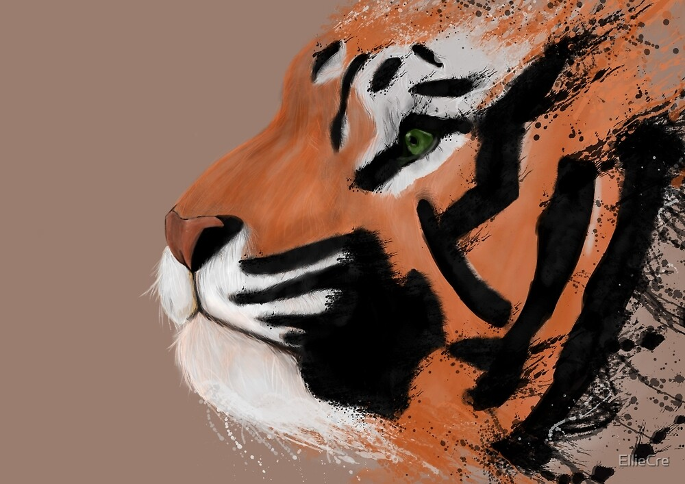 Tiger Paint  by EllieCre