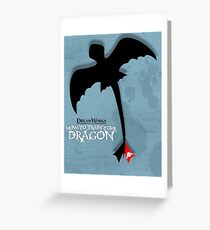 How to Train your Dragon Poster Greeting Card