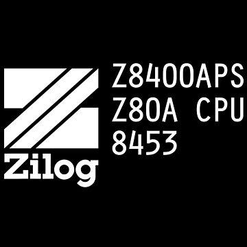 Vintage Zilog Z80 Microprocessor Markings by destinysagent