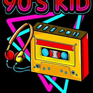 90s Kid! Born in the Nineties Retro Gift by MikeMcGreg