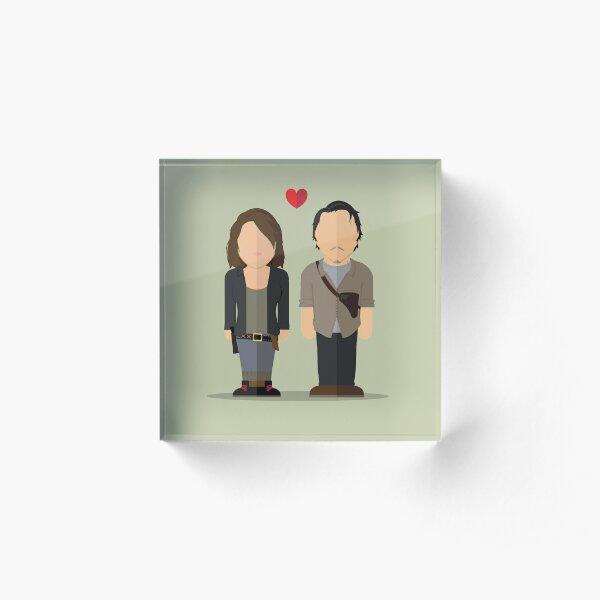 Glenn & Maggie TWD Acrylic Block