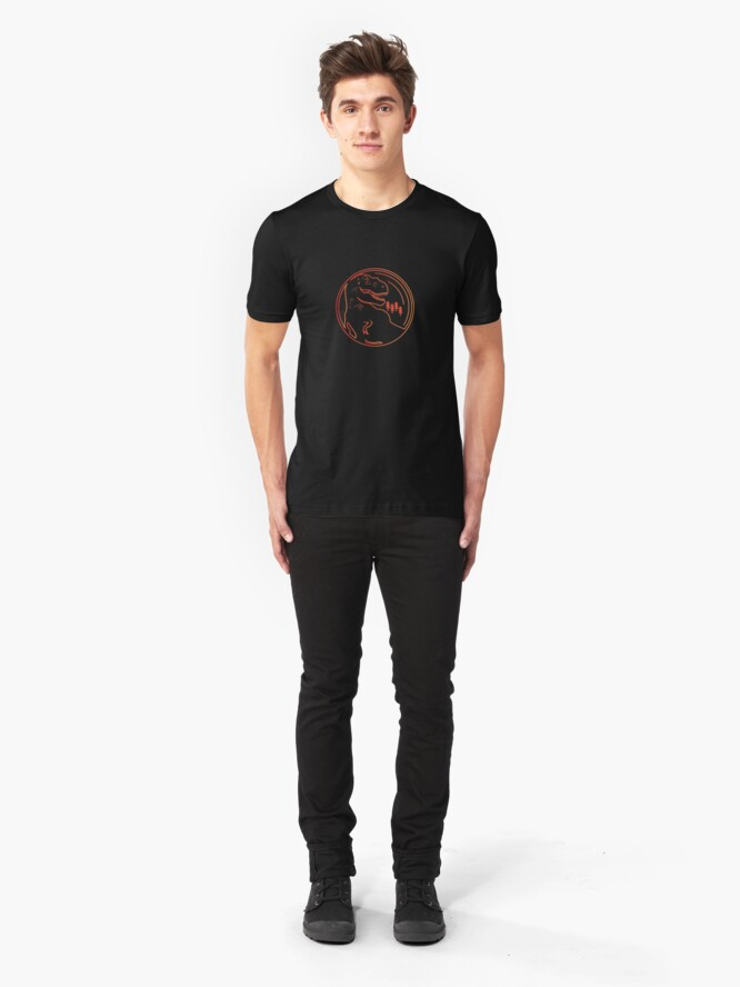 Alternate view of T-Rex Minimal Slim Fit T-Shirt