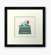 Write your story Framed Print