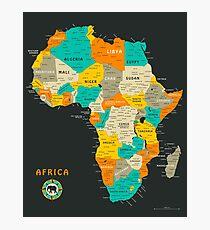 Afrika Karte Fotodruck