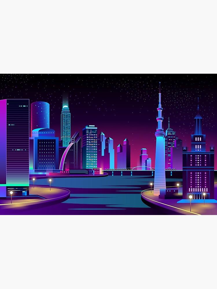 Get Vaporwave Cityscape  JPG
