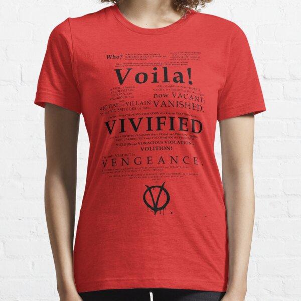 V For Vendetta Pentalogue Essential T-Shirt