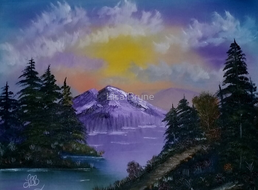Purple Mountains by Lisa Bryne