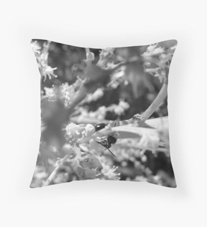 Lonely Ant-B&W Throw Pillow