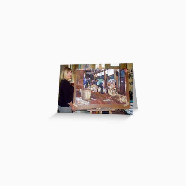 The Artist and the Painting - The Tarcombe Clip Greeting Card