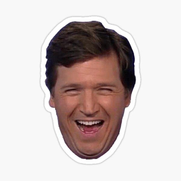 Tucker Carlson Laughing Sticker